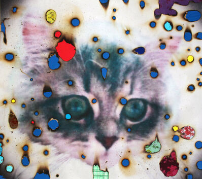 Miyoshi Barosh, 'I (heart( Kitties (blue)', ca. 2013