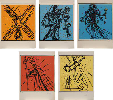 Salvador Dalí, 'Knights of the Round Table: five plates (M. & L. 1504-1505; 1508-1510)', 1977
