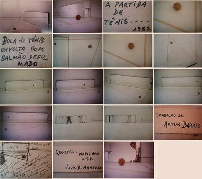 Artur Barrio, 'A partida de tênis', 1982