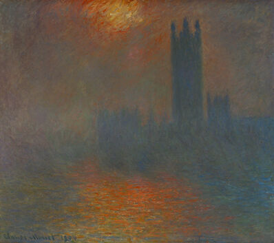 Claude Monet, 'Londres, le Parlement, trouée de soleil (London, Parliament, sun breaking through the clouds)', 1904