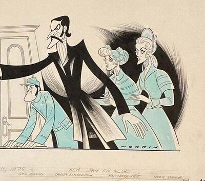 "Sam Norkin, 'Meryl Streep John Lithgow ""Secret Service"" 1976 Off Broadway Theatre Caricature', 1976"