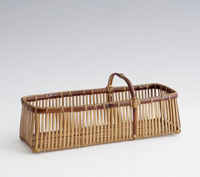 Yokota Hōsai, 'Rectangular Ikebana Flower Basket (T-1567)', Showa era (1926, 89), ca. 1950's