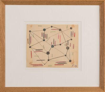 """Georges Koskas, '""""Points rouges bleus noirs""""', 1951"""