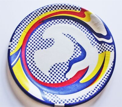 Roy Lichtenstein, 'Screenprinted Paper Plate, 1969', 1977