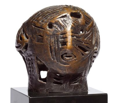Henry Moore, 'Maquette for Strapwork Head', 1950