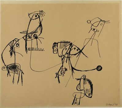 Karel Appel, 'Créatures venues de l'espace n° 2', 1948
