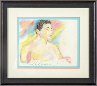 LeRoy Neiman, 'Original Colored Pencil Drawing Muhammad Ali Signed Dated Rare', 1979