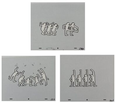 After Keith Haring, 'Sesame Street Breakdancers (White)', 1987
