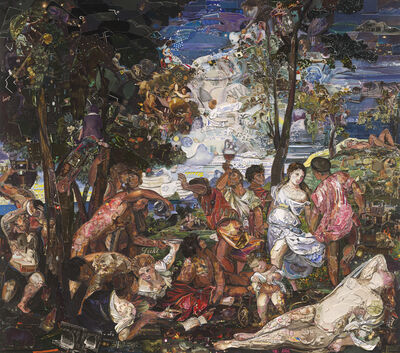 Vik Muniz, 'The Prado Museum, Bacchanal of the Andrians, after Titian (Gift Shop Series)', 2015