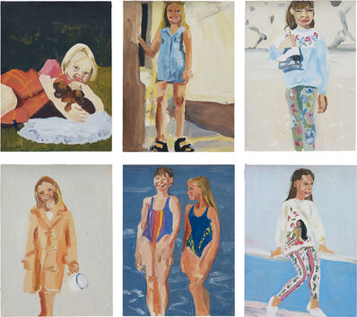 Chantal Joffe, 'Six works: Untitled', 1995