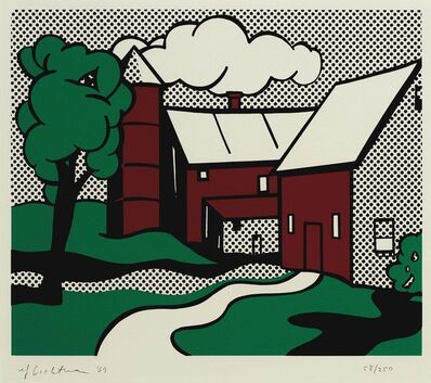 Roy Lichtenstein, 'Red Barn', 1969