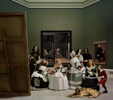 "Yasumasa Morimura, '"" Las Meninas renacen de noche V (Drawn by a distant light, awaken to the darkness)""', 2013"