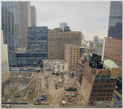 Rackstraw Downes, 'Demolition and Excavation on the Site of the Equitable Life Assurance Society's New Tower at 7th Avenue and 52nd Street', 1983