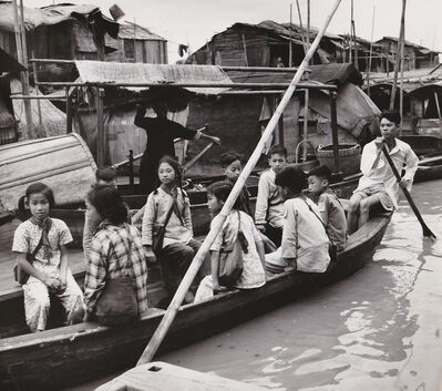 Agnès Varda, 'Canton (Chine). Ecoliers du village flottant', 1957