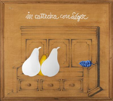 Concetto Pozzati, 'In cattedra con Léger', 1972