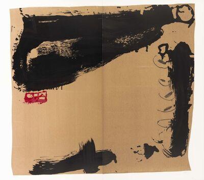 Antoni Tàpies, 'Rouge à gauche', 1984