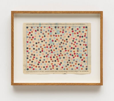 Hamish Fulton, 'Counting 343 coloured dots for counting 49 barefoot steps from and to the tent for seven days. A 14 day walk from and to sea level. Camping for seven nights in the Gennargentu Mountains. Sardinia', 2014