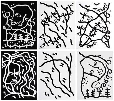 Shantell Martin, 'I,II,III,IV,V,VI', 2015