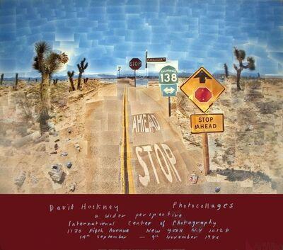 David Hockney, ' David Hockney, Pearblossom Highway Poster', 1986