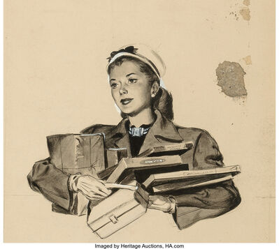 Gil Elvgren, 'One Forward Thinking Young Lady'