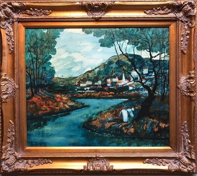 Donald Roy Purdy, 'Modernist Landscape Oil Painting', 20th Century
