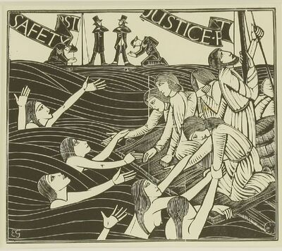 Eric Gill, 'Safety First; Amnon', 1934