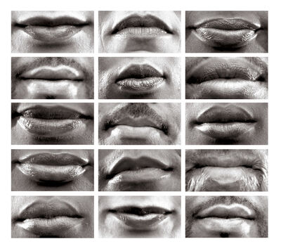 Lorna Simpson, '15 Mouths', 2002