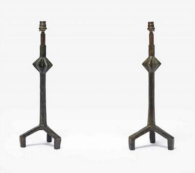 Alberto Giacometti, 'Paire de lampes trépied à l'étoile', Unknown