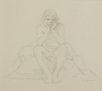 R. H. Ives Gammell, 'Study for Crouching Figure in Figure with Totem', ca. 1980