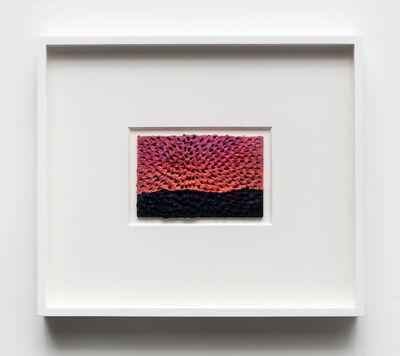 Jennifer Guidi, 'Hanalei Sunset (White Sand #10 Mandala, Dark Purple-Green-Turquoise-Red Mountain, Orange-Pink-Purple Sky)', 2017
