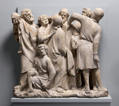 Unknown French, 'Relief of the Betrayal and Arrest of Jesus', 1264–1288