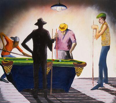 Benny Andrews, 'Pool Hall', 1988