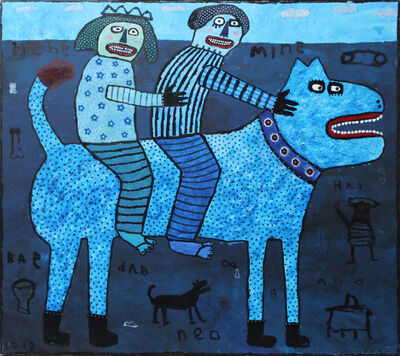 Indra Dodi, 'Blue Rider', 2018