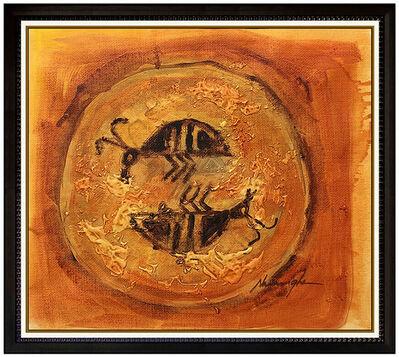 Dan Namingha, 'Dan Namingha Oil Painting On Canvas Native American Hopi Signed Framed Artwork', 20th Century