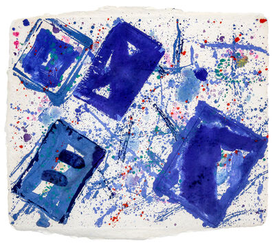 Jean Dubuffet, 'Untitled (Blue Squares)'