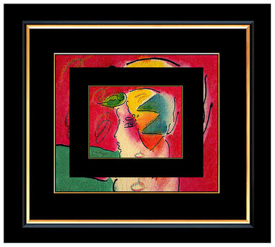 Peter Max, 'PETER MAX All ORIGINAL Signed Ink and WATERCOLOR PAINTING Pop Art PROFILE Beauty', 20th Century