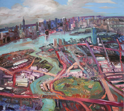 John Hartman, 'The East River and BQE', 2008