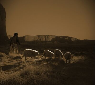 Billy Schenck, 'Navajo Woman with Sheep', 2009