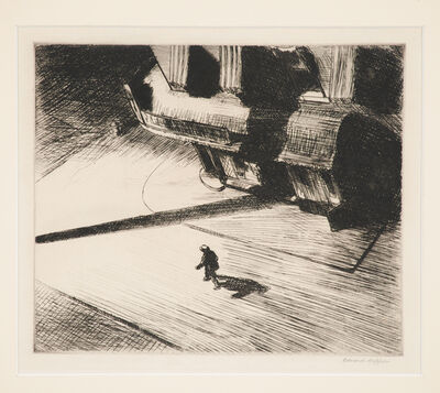 Edward Hopper, 'Night Shadows from Six American Etchings', 1921