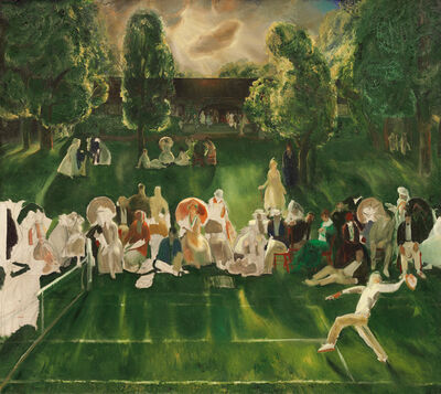 George Wesley Bellows, 'Tennis Tournament', 1920