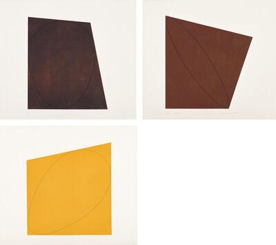 Robert Mangold (b.1937), 'Attic Series I (I-V): plate IV; and Attic Series II (VI-X): plates VI-VII (S. 34.01.04, 34.02.06-07; S. & S. 1991.02.01-02, 1991.01.04)', 1991