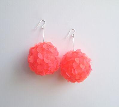 Mariko Kusumoto, 'flower ball earrings', 2020