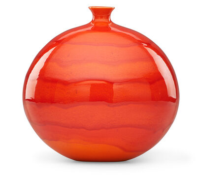 James Lovera, 'Bulbous vase, vivid red-orange glaze, San Francisco, CA', ca. 1960