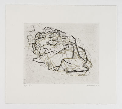 Frank Auerbach, 'Julia Asleep', 2001