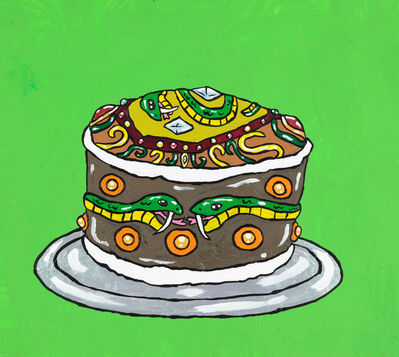 Yukari Sakura, 'Snape Rickman's Serpents of Slytherin Hogwarts Cake', 2016