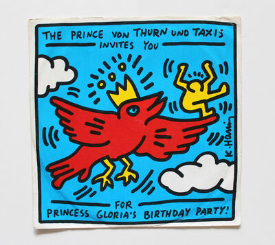 Keith Haring, 'The Prince von Thurn und Taxis Invitation ', 1989