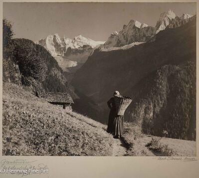 """Albert Steiner, '""""Graubunden. Herbstlandschaft bei Soglio - im Bergell.-""""  (""""Graubunden. Autumn landscape near Soglio - in the Bergell.- """")', 1925-1950"""