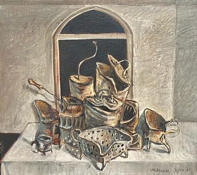 Yosl Bergner, 'Still Life On The White Table', 60's of the 20th century