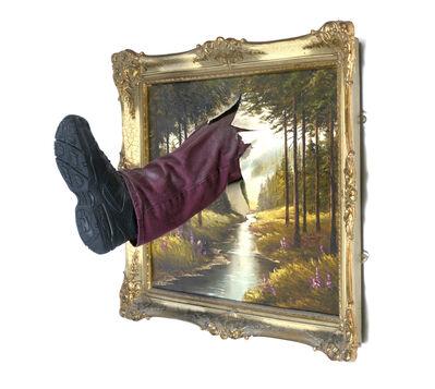 Mark Jenkins, 'Kicked Painting (Landscape series)', 2014