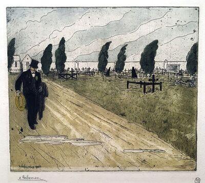 Jean-Emile Laboureur, 'L'Employe des Pompes Funebres (The Mortician)', 1902